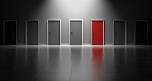 barevné dveeře